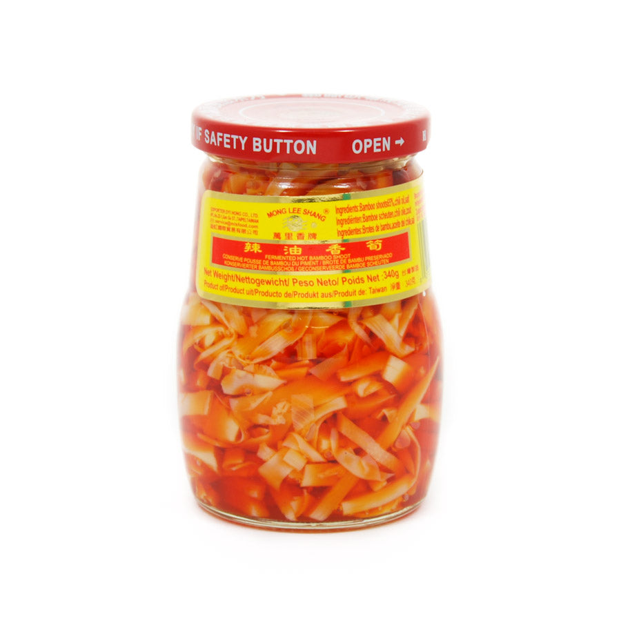 Mong Lee Shan Fermented Hot Bamboo Shoots 340g Ingredients Pickled & Preserved Vegetables