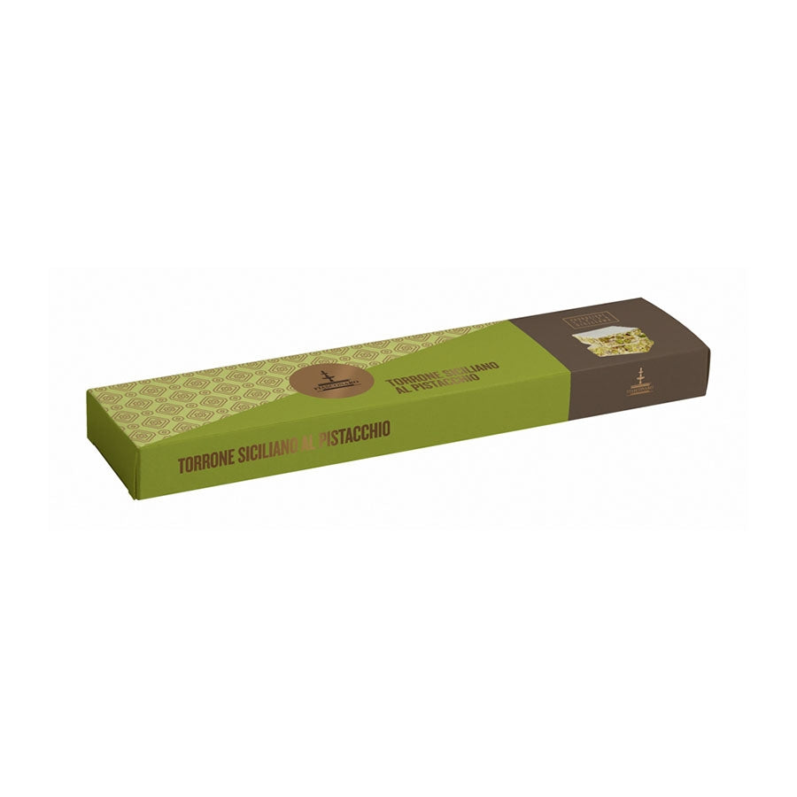 Fiasconaro Sicilian Pistachio Torrone 150g Ingredients Chocolate Bars & Confectionery Italian Food