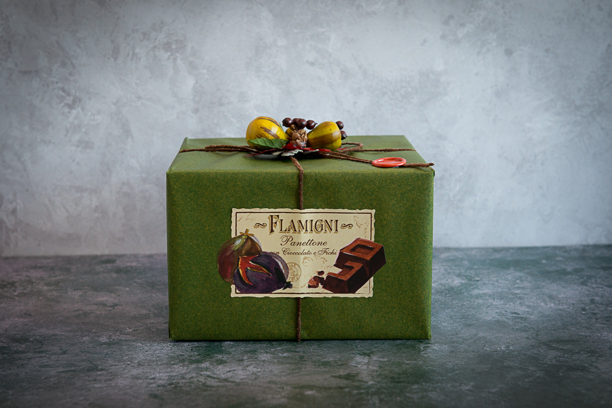 Flamigni Sugar Iced Dark Chocolate & Fig Panettone 1kg