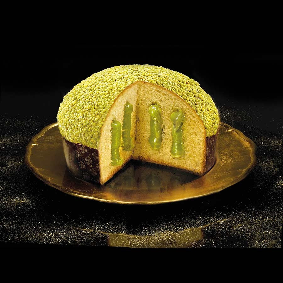 Flamigni Luxury Pistachio Panettone 950g Ingredients Chocolate Bars & Confectionery Italian Food Panettone & Pandoro