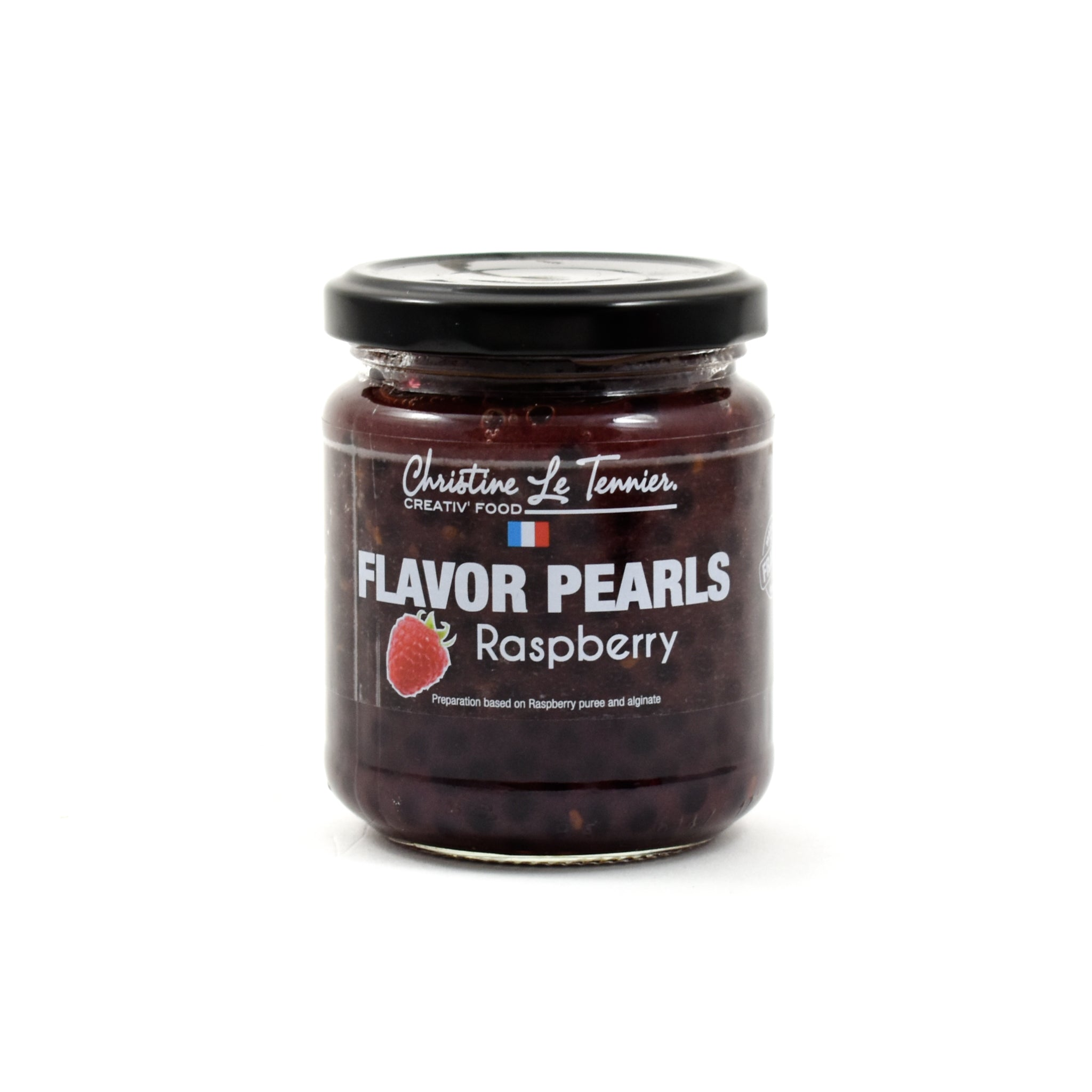 Raspberry Flavour Pearls Modernist and Molecular Cuisine French Food & Recipes jar shot