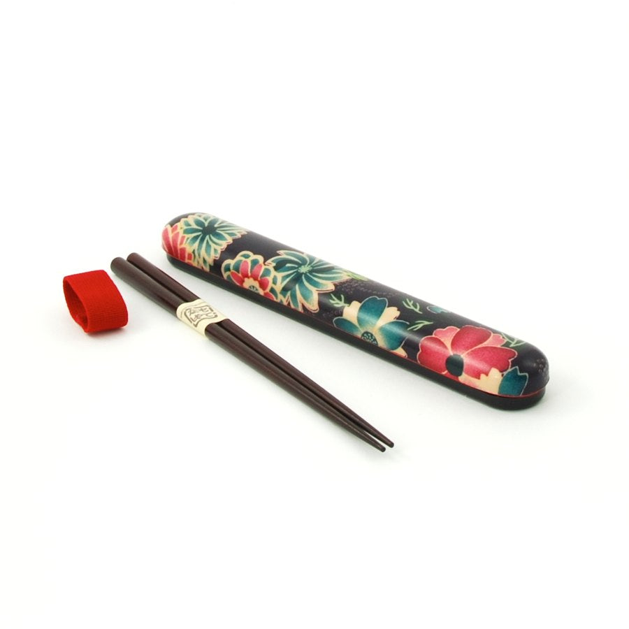 Hakoya Floral Travel Chopsticks Tableware Chopsticks Japanese Food