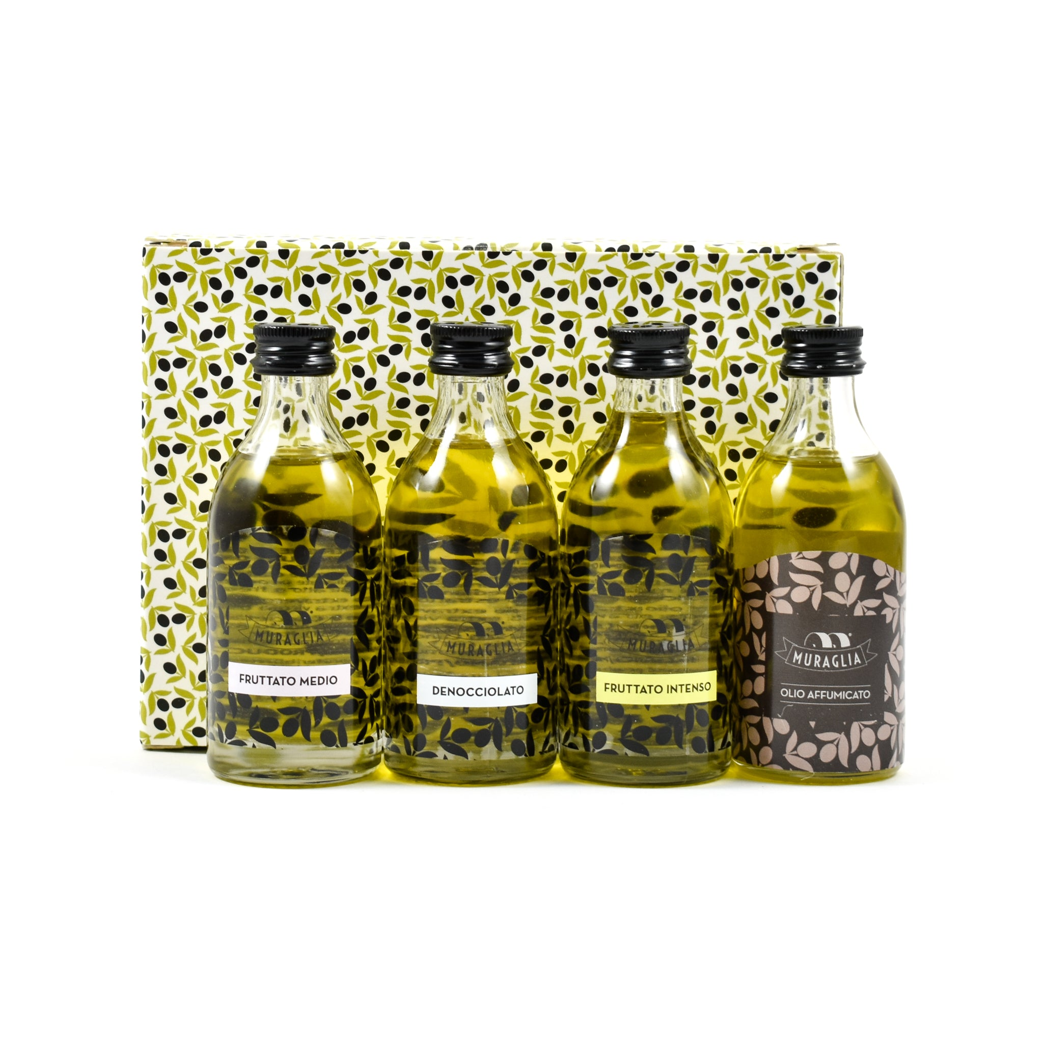 Frantoio Muraglia Extra Virgin Olive Oil Selection 4x50ml Ingredients Oils & Vinegars Italian Food