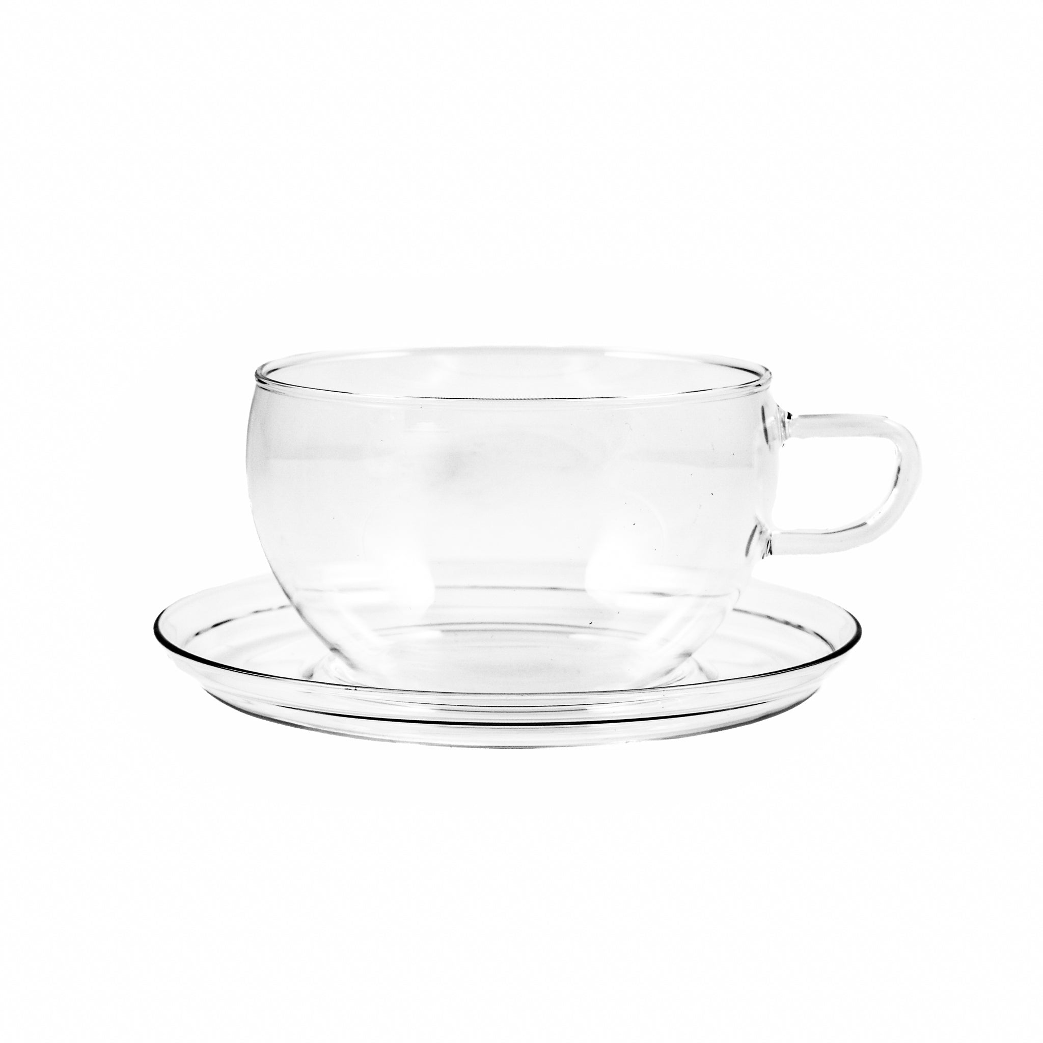 Trendglas Glass Teacup & Saucer 400ml Tableware Jugs & Glassware