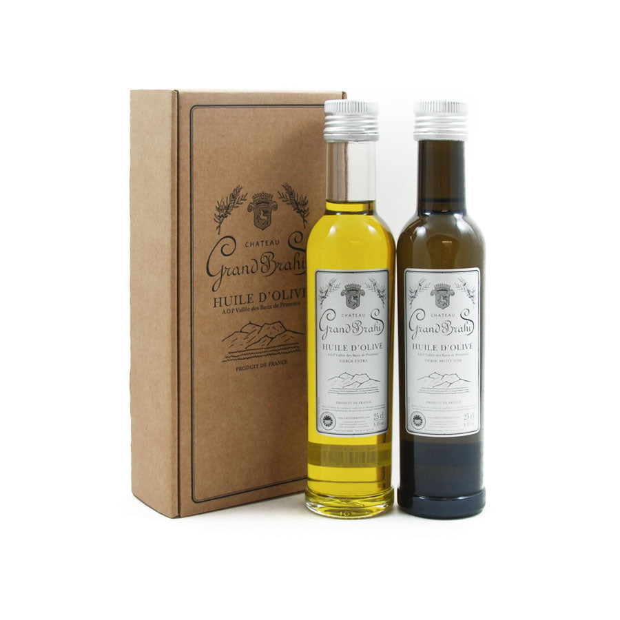 Grand Brahis AOP Vallee des Baux de Provence Extra Virgin Olive Oil Duo 250ml x 2 Ingredients Oils & Vinegars French Food