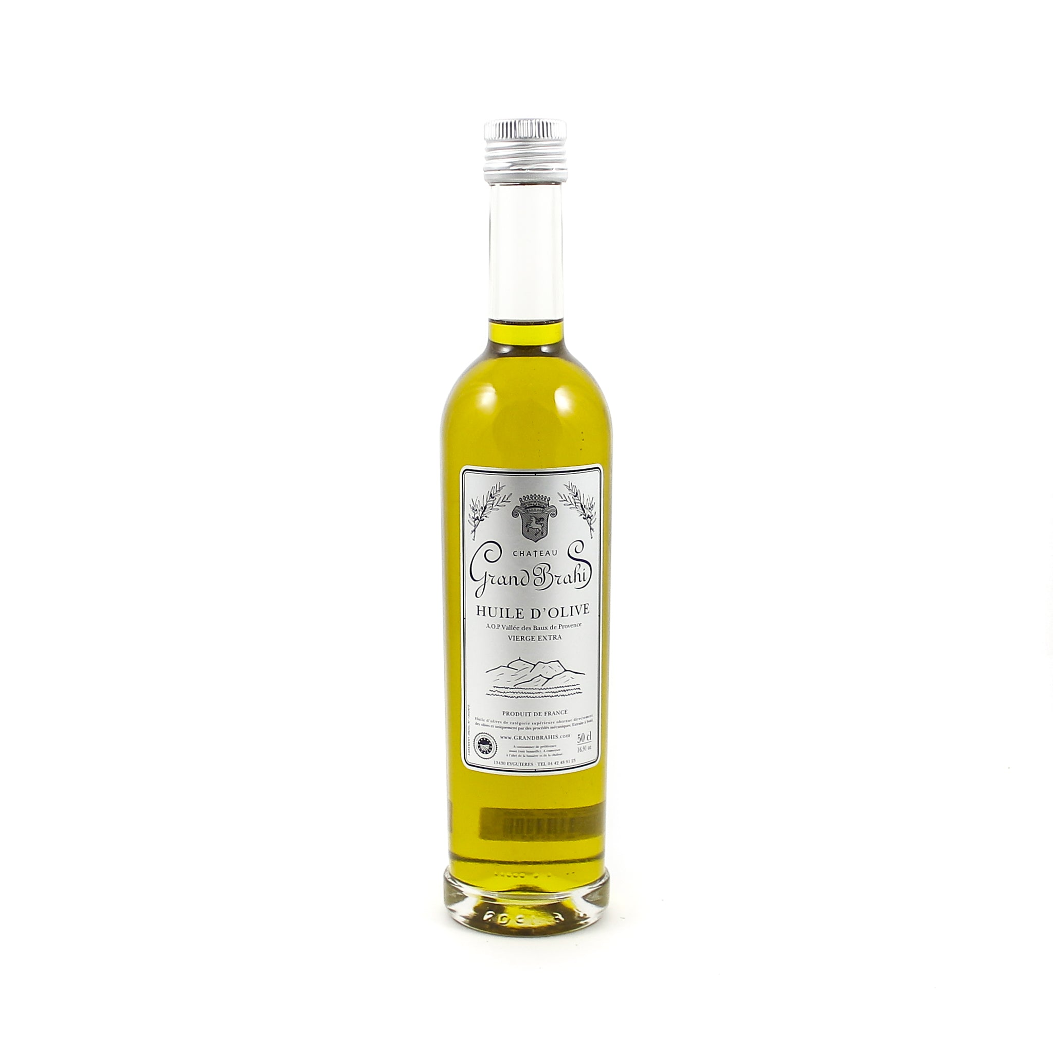Grand Brahis Vert AOP Vallee des Baux de Provence Extra Virgin Olive Oil 500ml Ingredients Oils & Vinegars French Food
