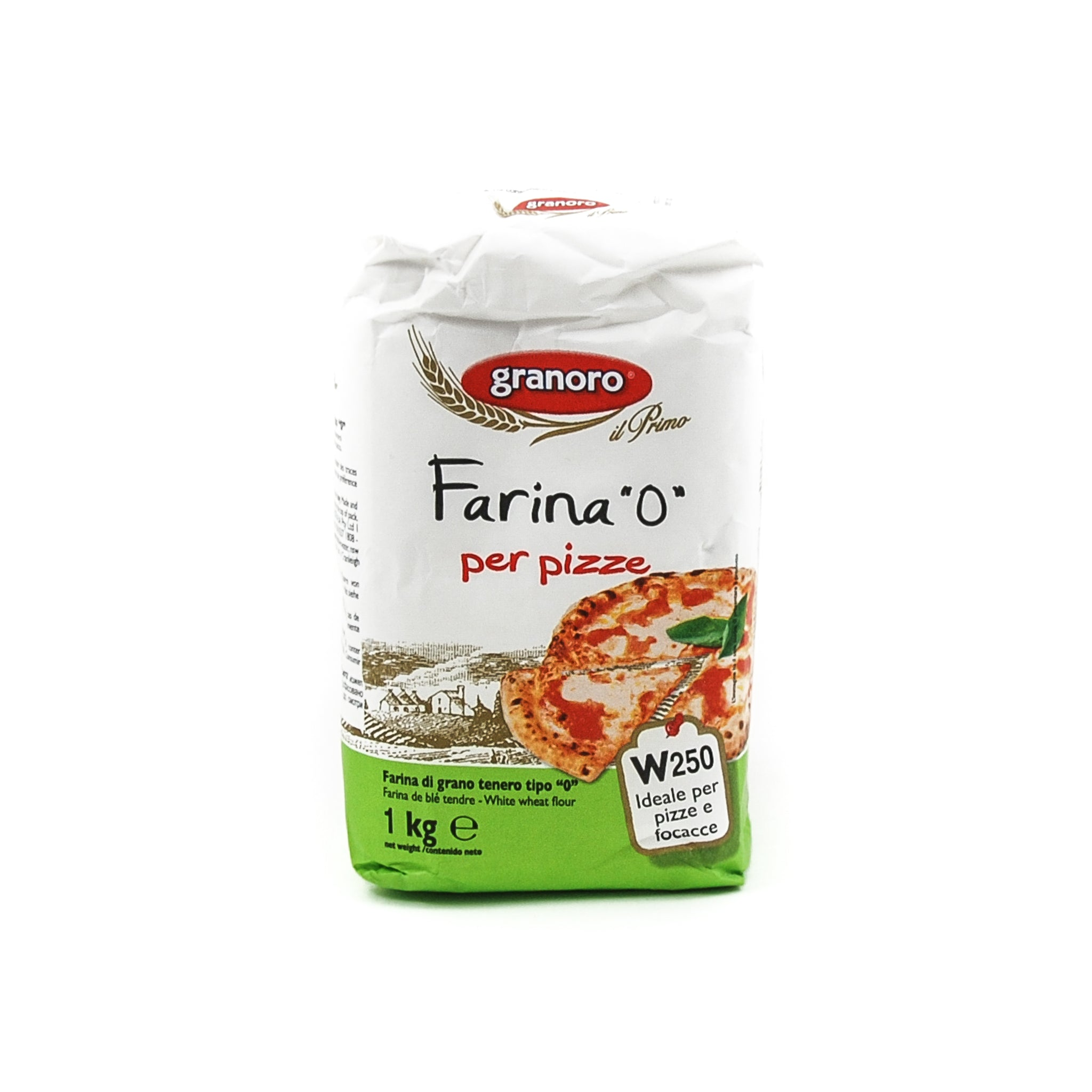 "Granoro Type ""0"" Flour for Pizza 1kg Ingredients Flour Grains & Seeds Italian Food"