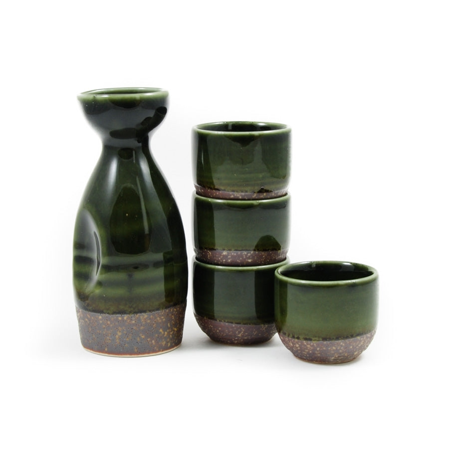Kiji Stoneware & Ceramics Shinrin Sake Set Tableware Japanese Tableware Japanese Food