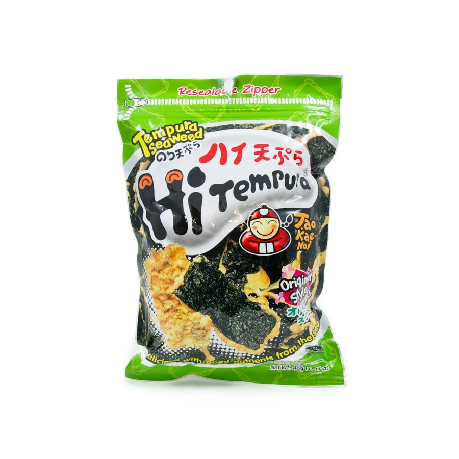 Tao Kae Noi Tempura Seaweed Original 40g Ingredients Seaweed Squid Ink Fish Southeast Asian Food