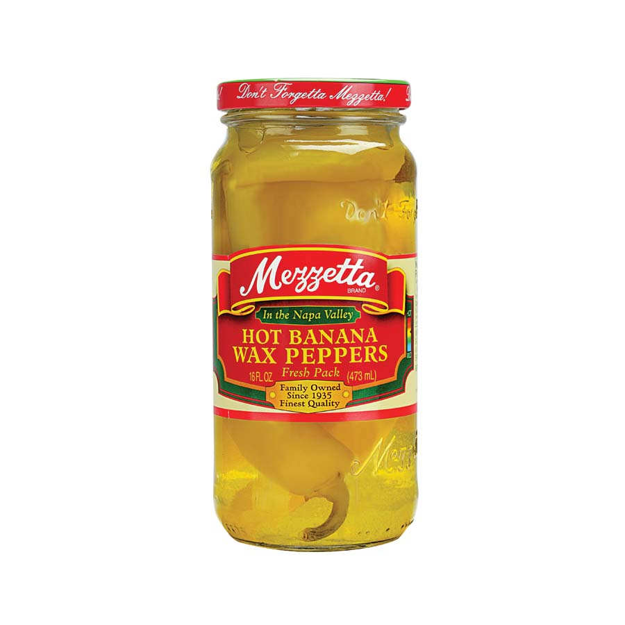 Mezzetta Hot Banana Wax Peppers 473g Ingredients Pickled & Preserved Vegetables American Food