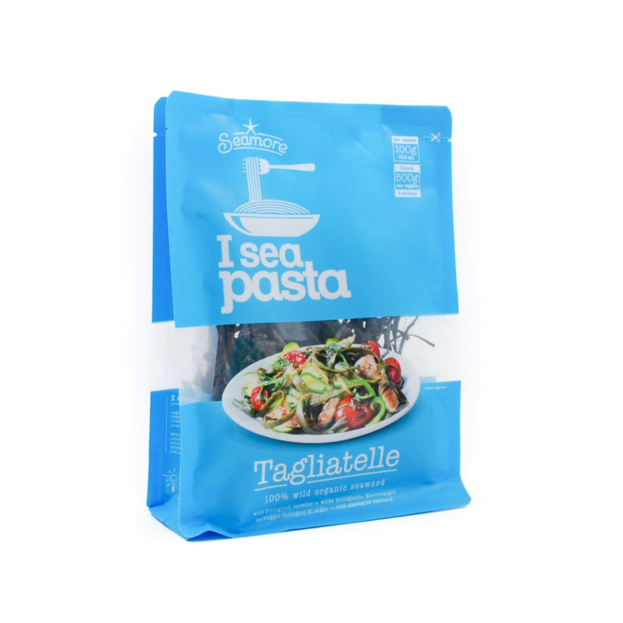 Seamore Seaweed Tagliatelle 100g Ingredients Seaweed Squid Ink Fish