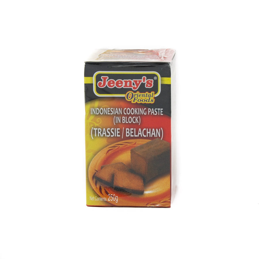 Jeeny's Indonesian Belachan 250g Ingredients Seaweed Squid Ink Fish Southeast Asian Food