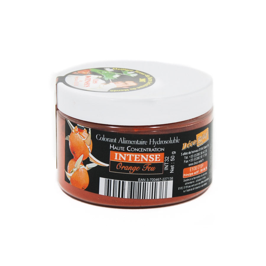 Deco Relief Intense Fire Orange Food Colour 50g Ingredients Flavours & Colours French Food