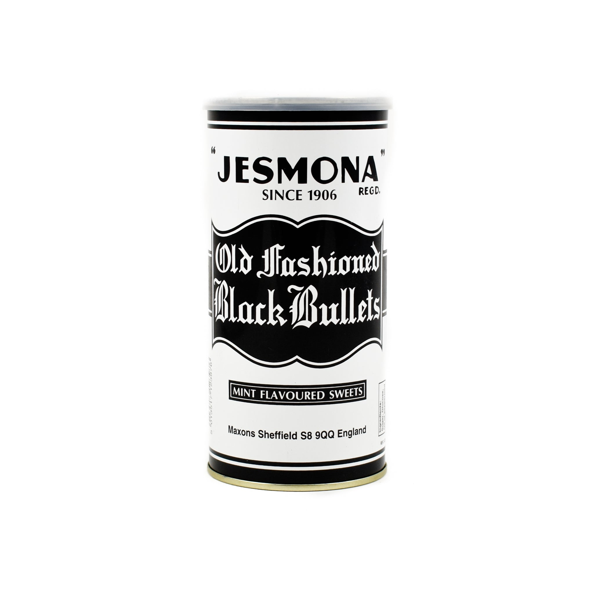 Jesmona Old Fashioned Black Bullets 500g Ingredients Chocolate Bars & Confectionery