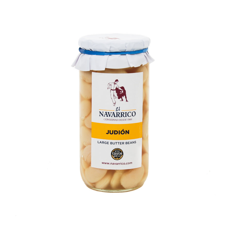 El Navarrico Navarrico Judion Large Butter Beans 660g Ingredients Tofu & Beans & Pulses Spanish Food