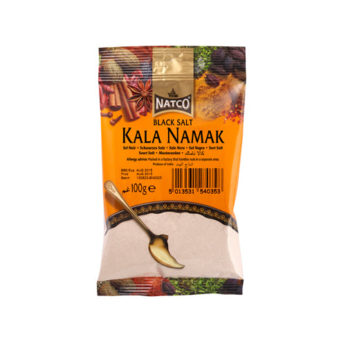 Natco Kala Namak - Indian Black Salt 100g Ingredients Seasonings Indian Food