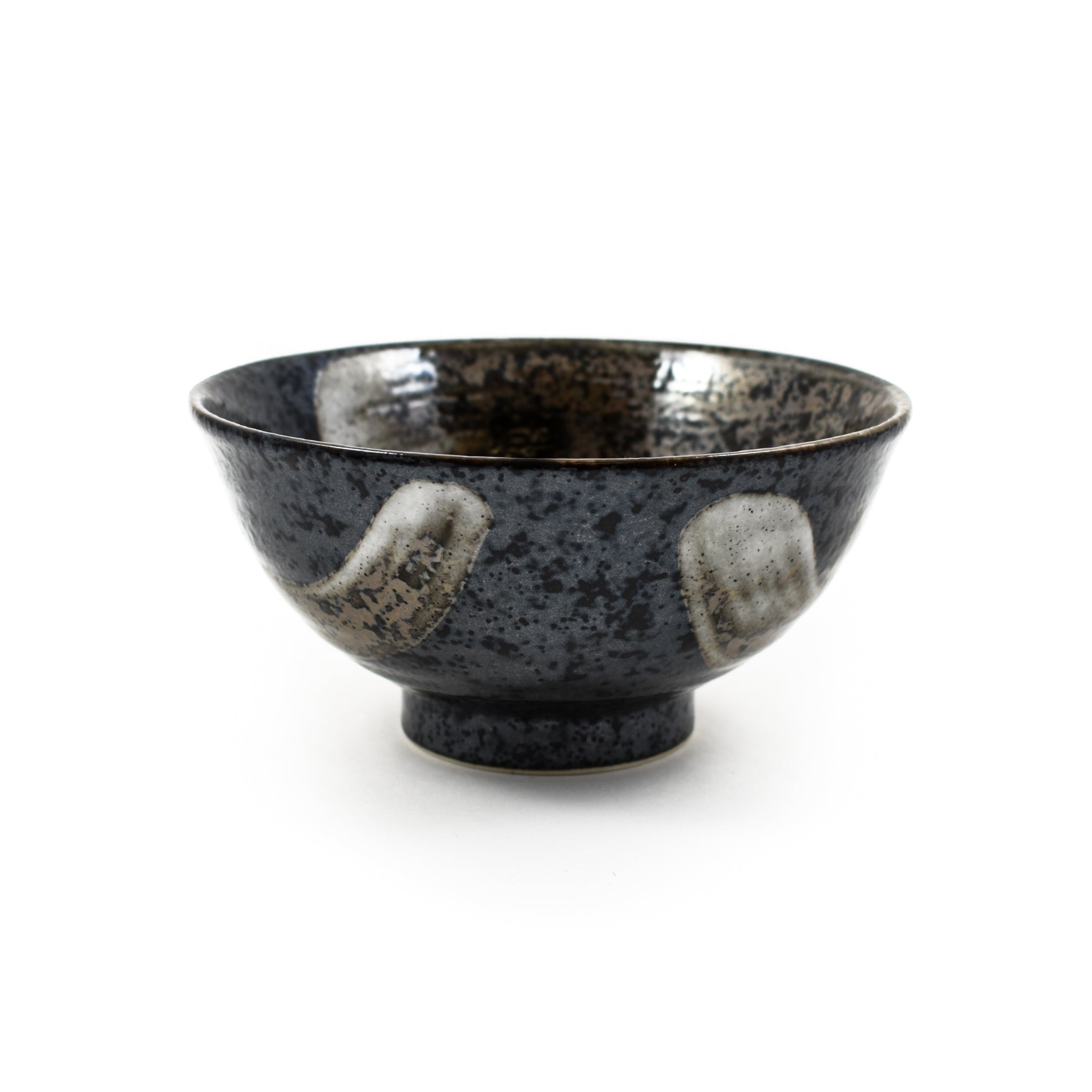 Kiji Stoneware & Ceramics Karasuba-Iro Large Rice Bowl Tableware Japanese Tableware Japanese Food