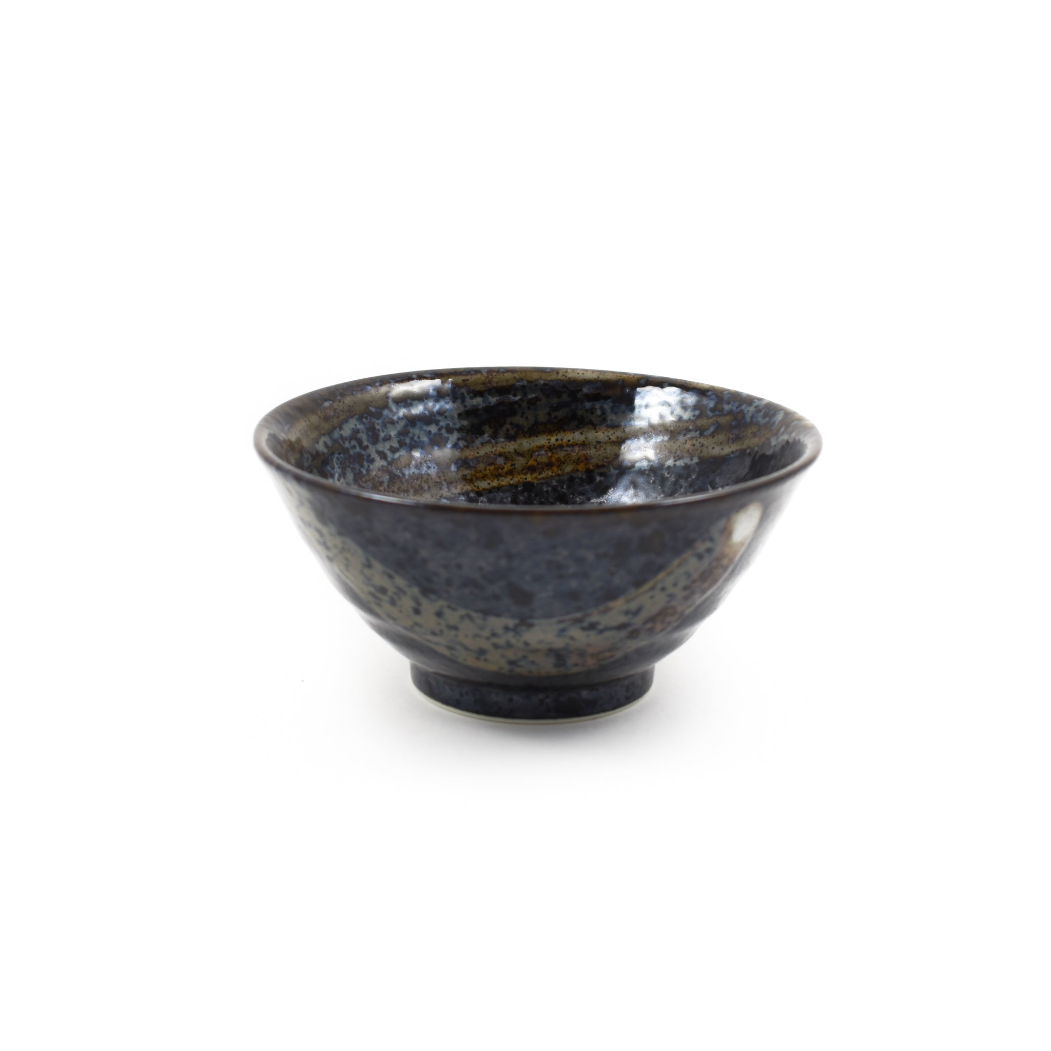 Kiji Stoneware & Ceramics Karasuba-Iro Medium Rice Bowl Tableware Japanese Tableware Japanese Food