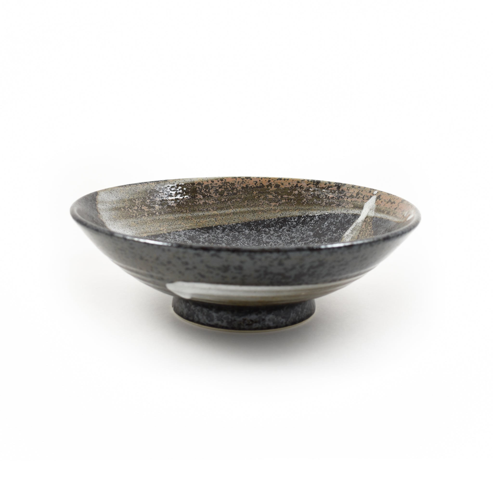 Kiji Stoneware & Ceramics Karasuba-Iro Shallow Bowl 25cm Tableware Japanese Tableware Japanese Food