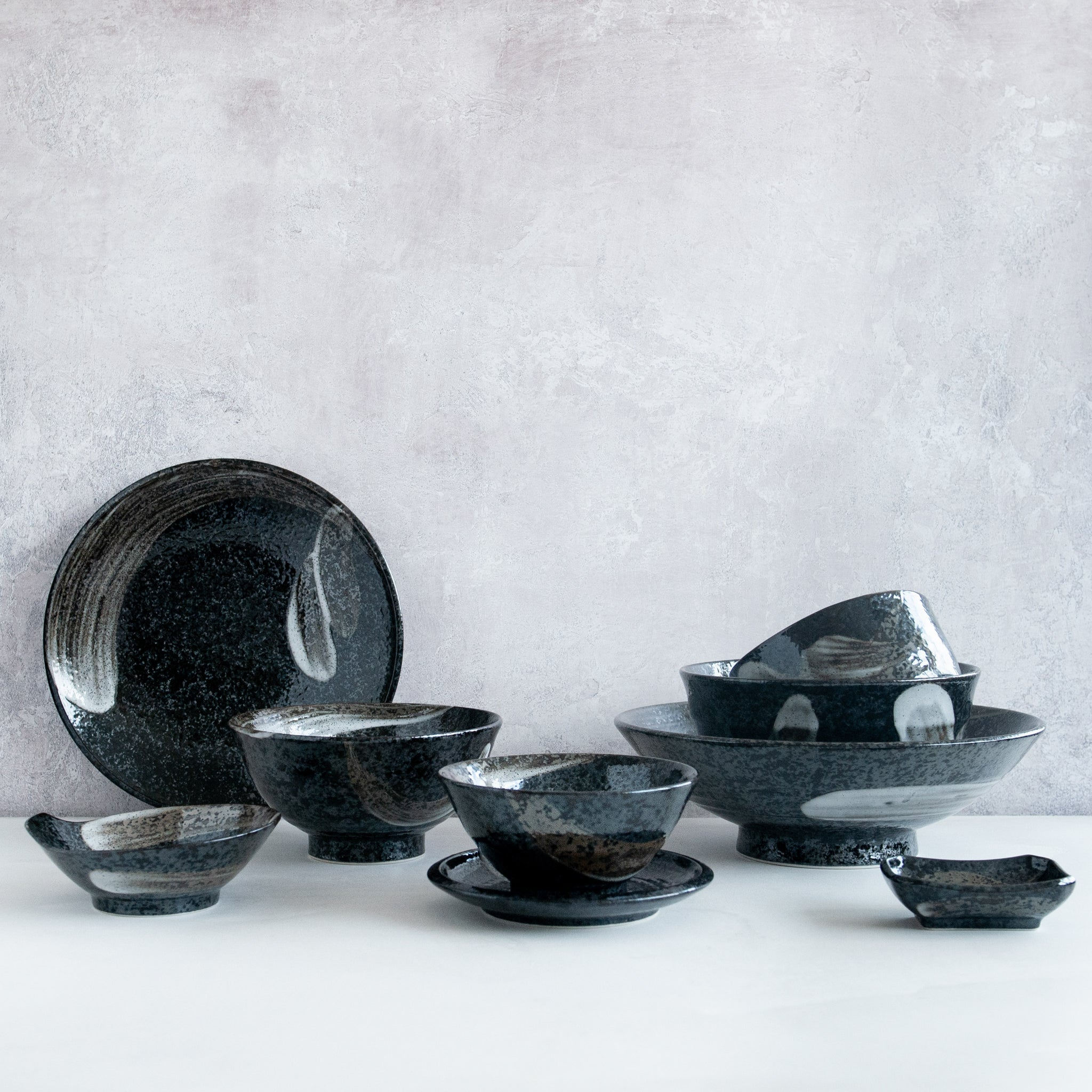 Kiji Stoneware & Ceramics Karasuba-Iro Noodle Bowl Tableware Japanese Tableware Japanese Food