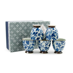 Kashiwa Blue Japanese Teacup Set