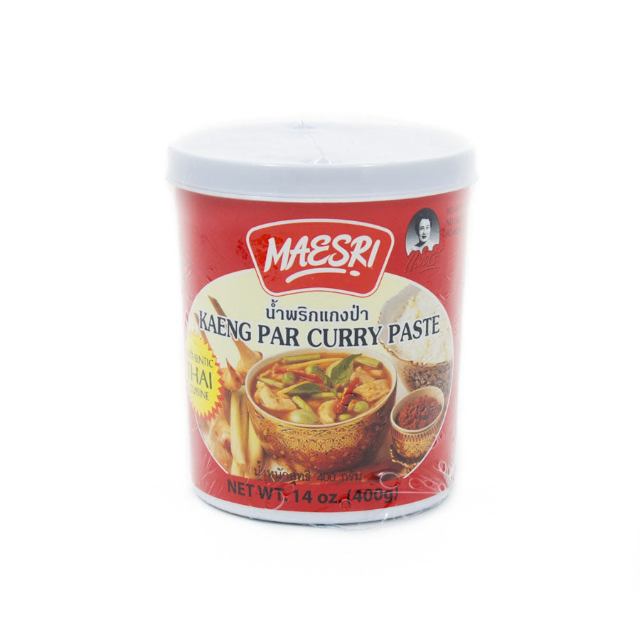 Mae Sri Thai Jungle Curry Paste - Kaeng Par 400g Ingredients Sauces & Condiments Asian Sauces & Condiments Southeast Asian Food