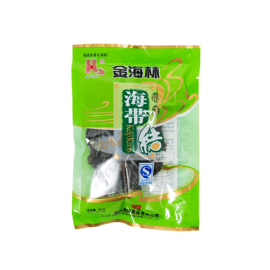 JHL Kelp Knots 50g Ingredients Seaweed Squid Ink Fish Chinese Food