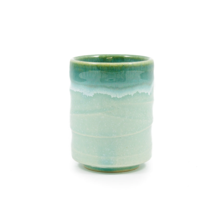 Kiji Stoneware & Ceramics Haro Green Japanese Tea Cup 150ml Tableware Japanese Tableware Japanese Food