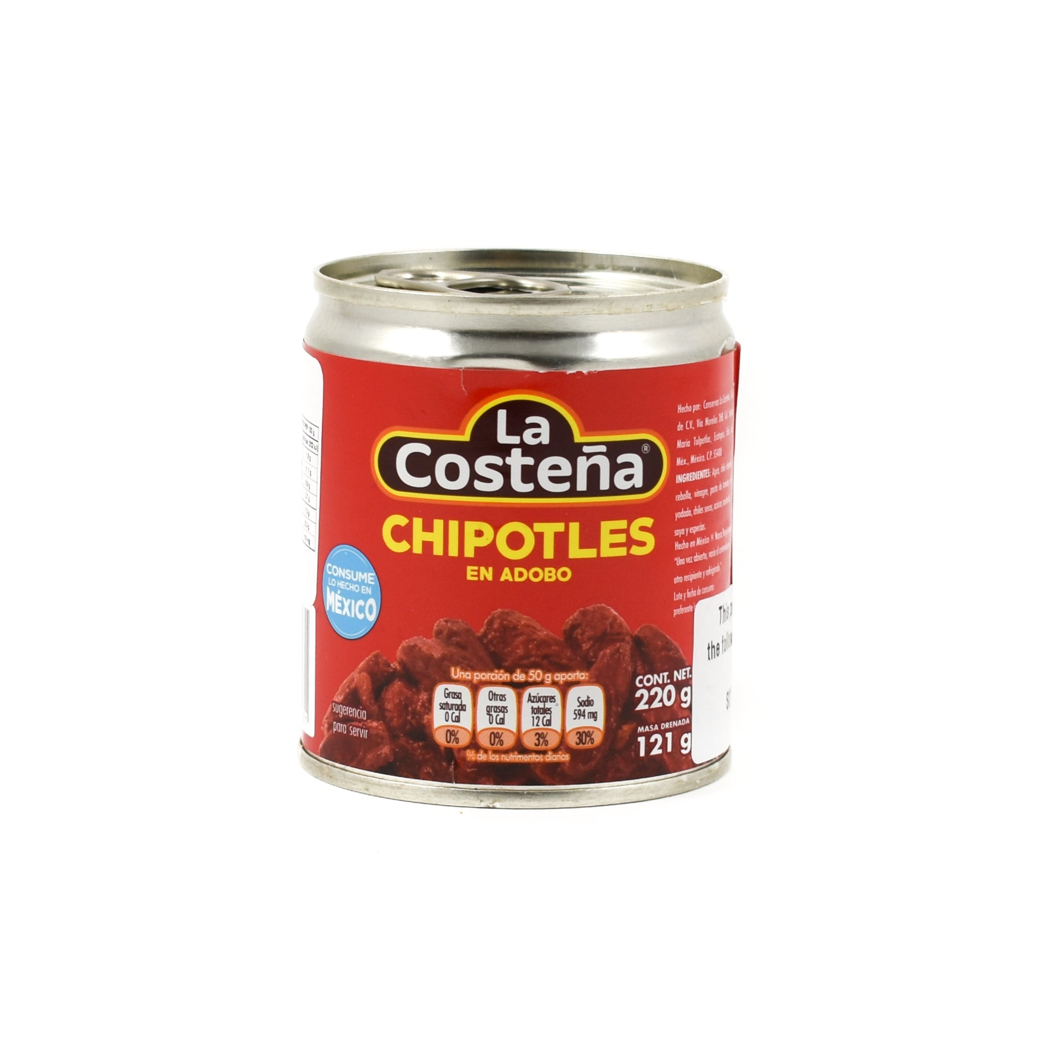 La Costena Chipotle Peppers in Adobo Sauce 220g Ingredients Sauces & Condiments American Sauces & Condiments Mexican Food