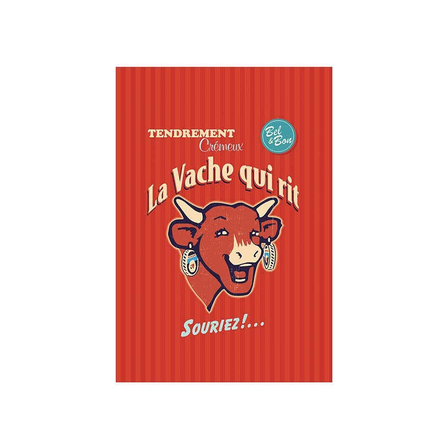 Coucke French Tea Towel - La Vache Qui Rit Cookware Kitchen Clothing French Food