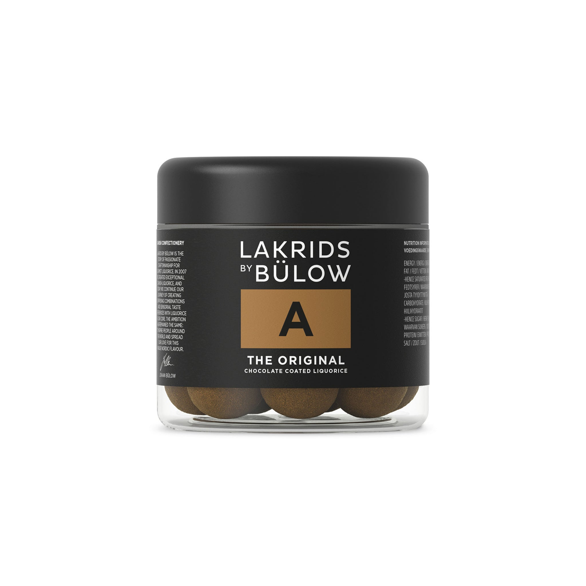 Lakrids Liquorice A Chocolate Coated Liquorice 125g Ingredients Chocolate Bars & Confectionery