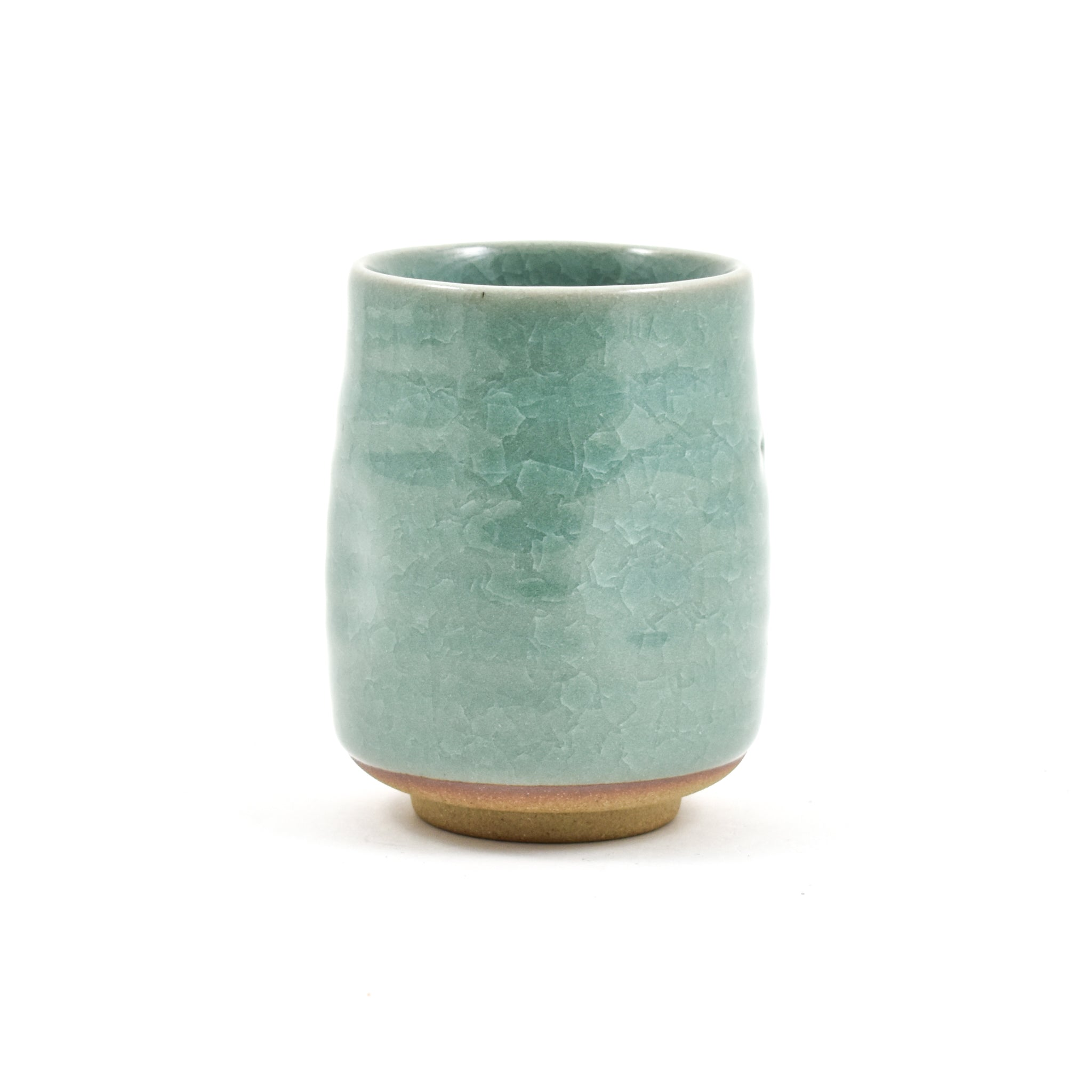Large Duck Egg Blue Glaze Tea Cup