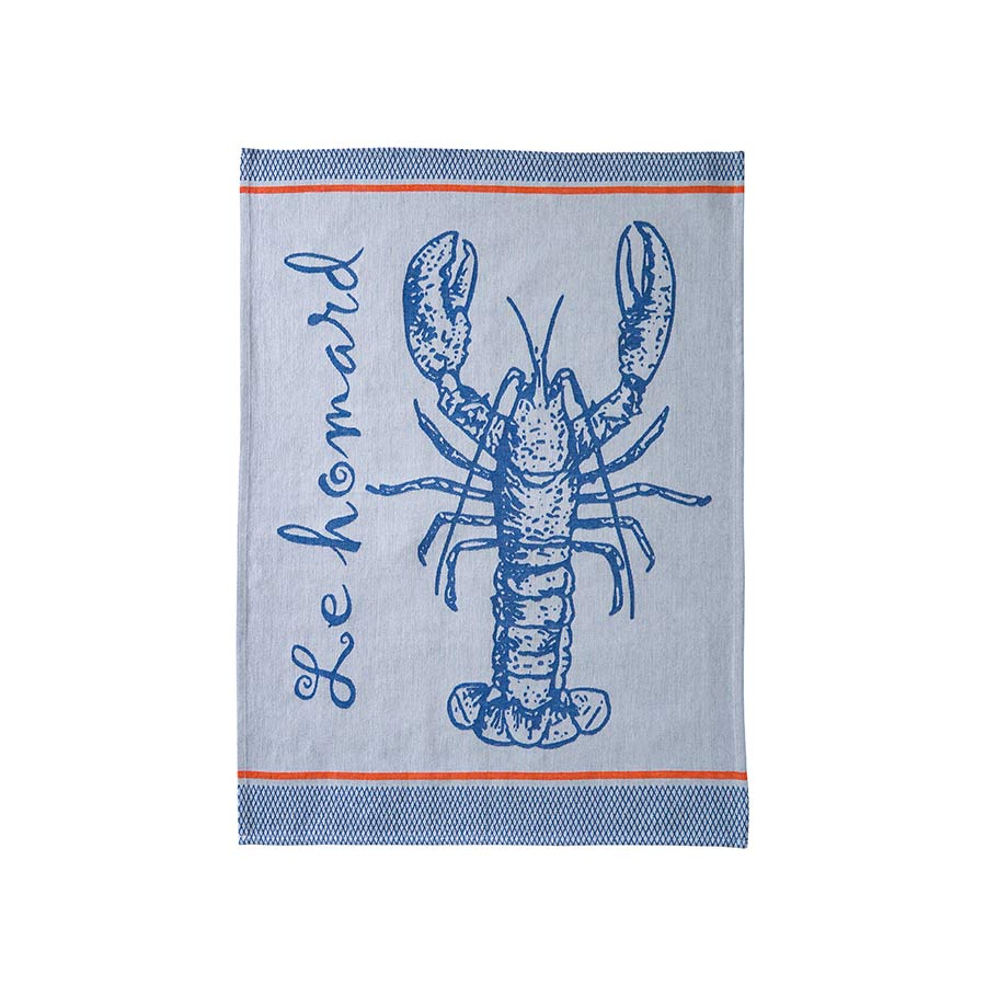 Coucke French Tea Towel - Lobster Cookware Kitchen Clothing French Food