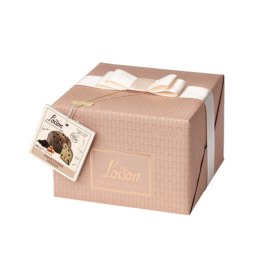 Loison Chocolate & Salted Caramel Panettone 600g Ingredients Chocolate Bars & Confectionery Italian Food Panettone & Pandoro