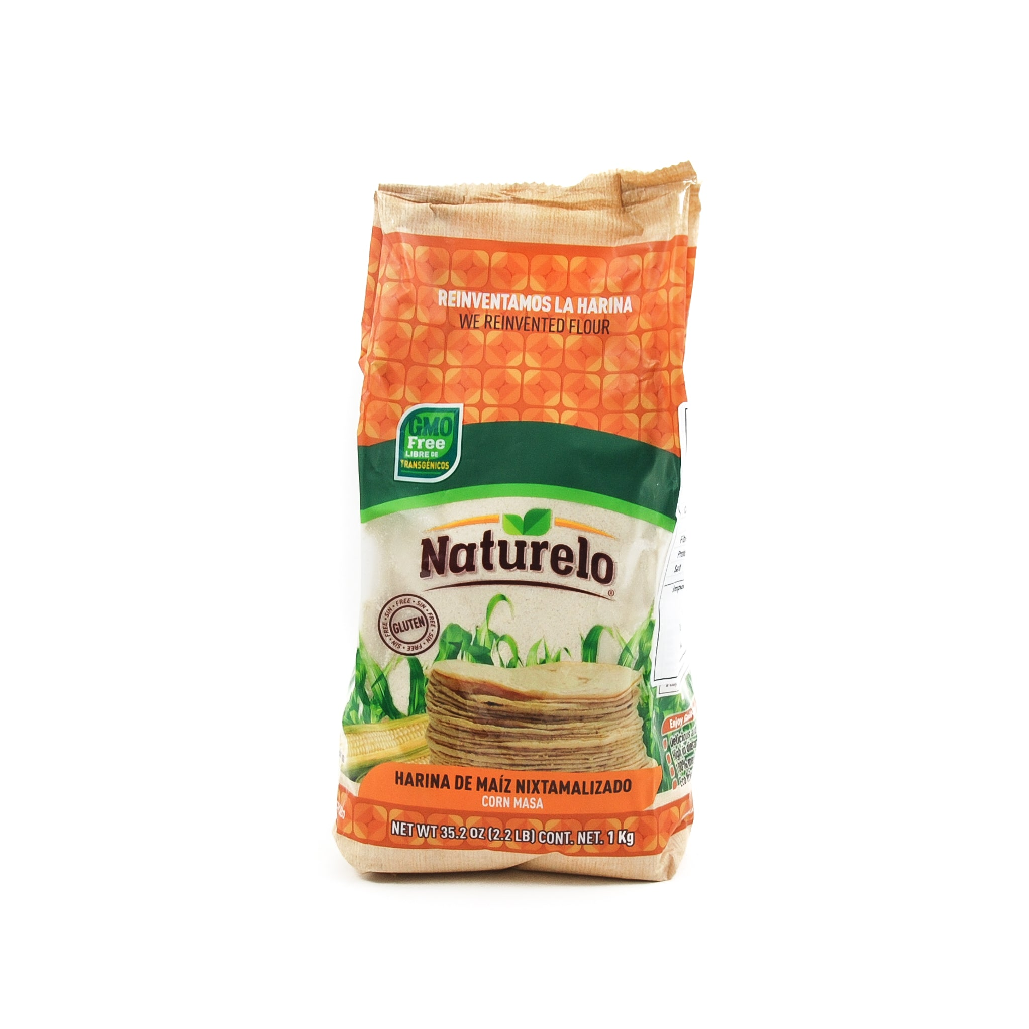 Naturelo White Masa Harina Ingredients Flour Grains & Seeds