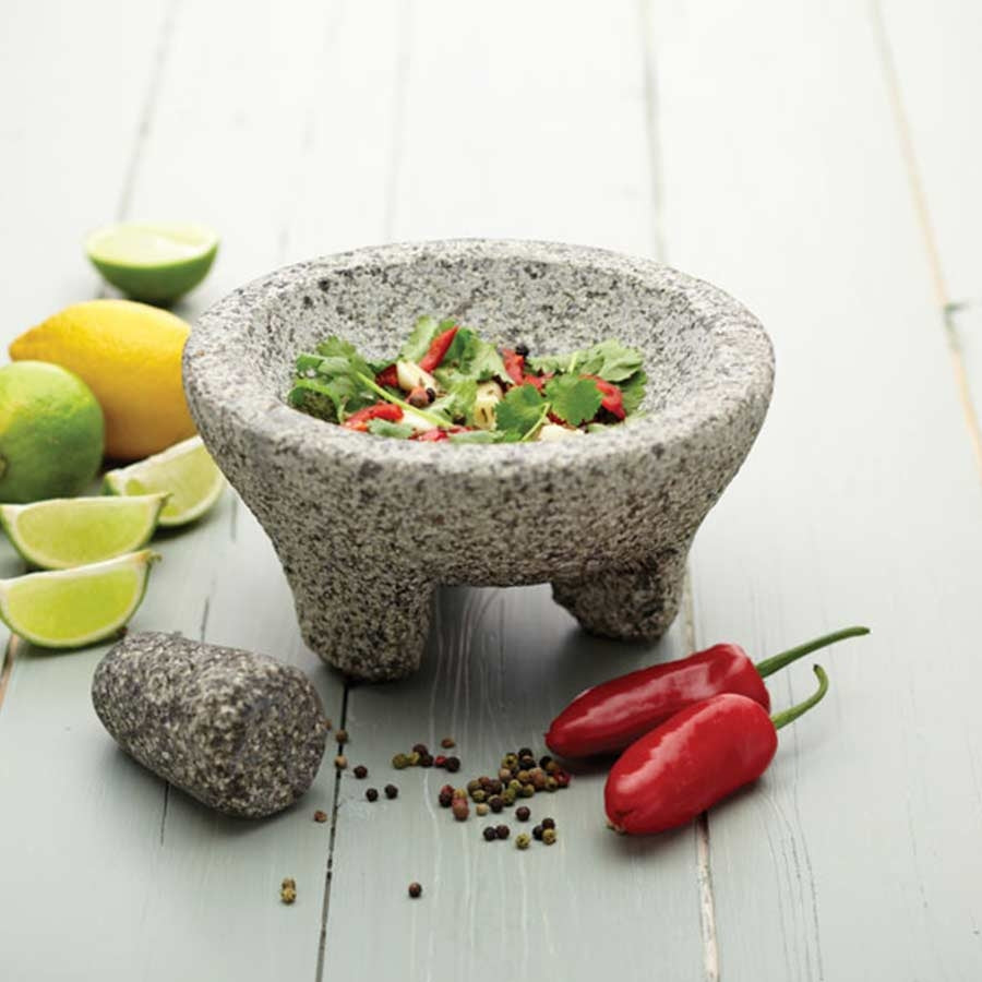 Kitchencraft KitchenCraft Mexican Granite Mortar and Pestle Techniques Bread Making