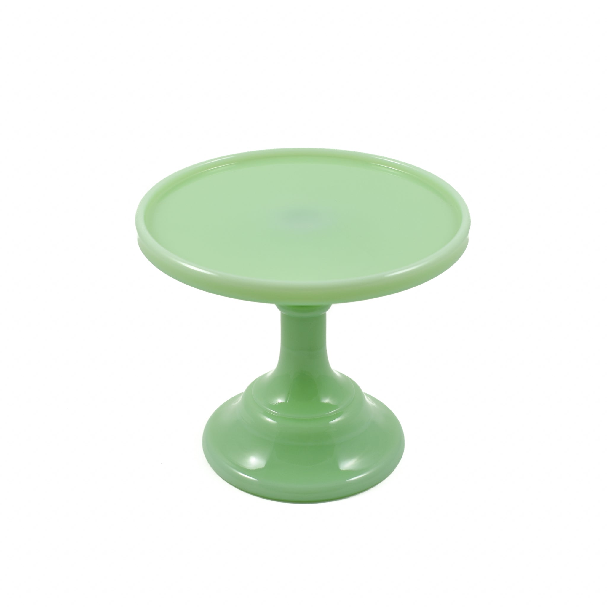 Mosser Glass Jade Milk Glass Cake Stand