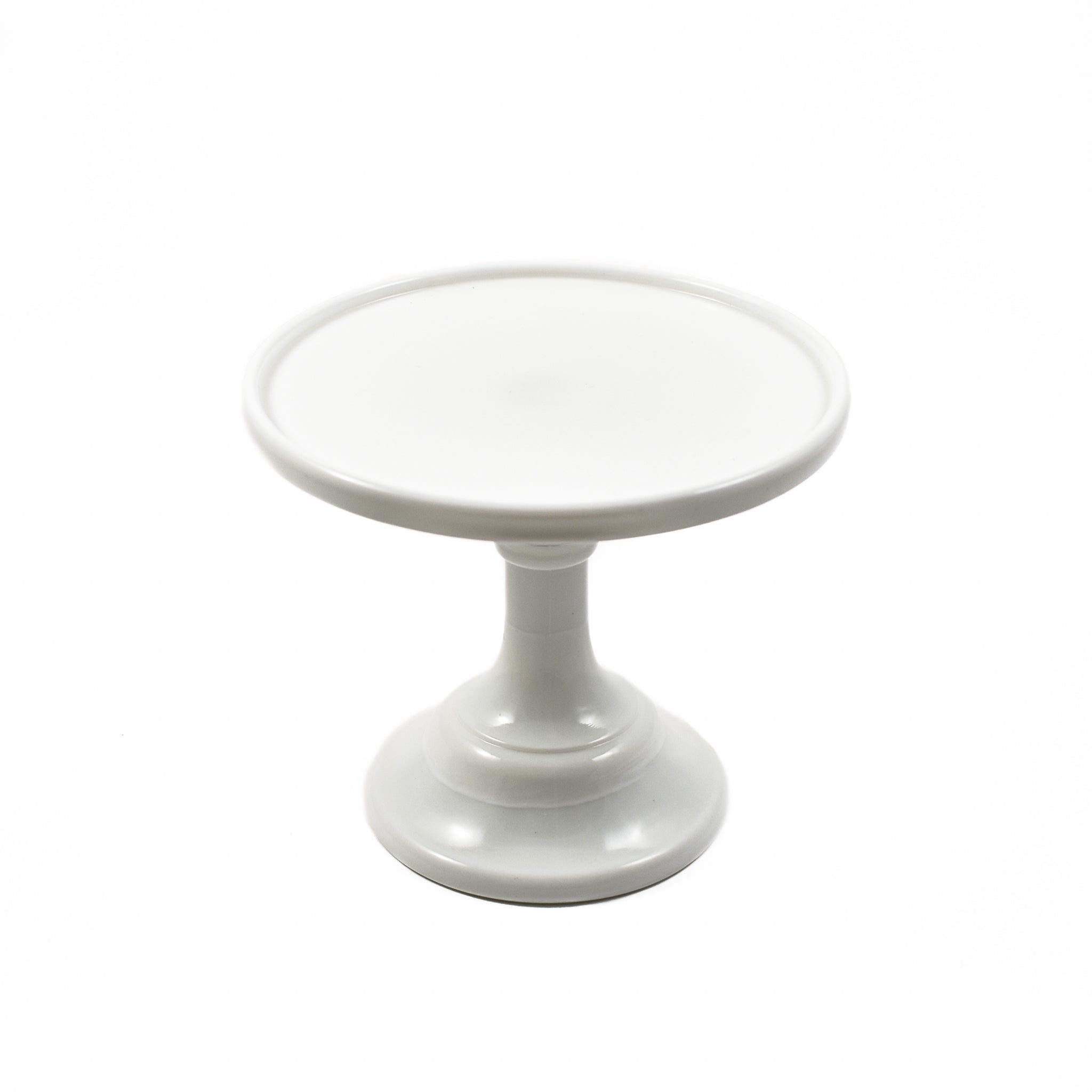 Mosser Glass White Milk Glass Cake Stand