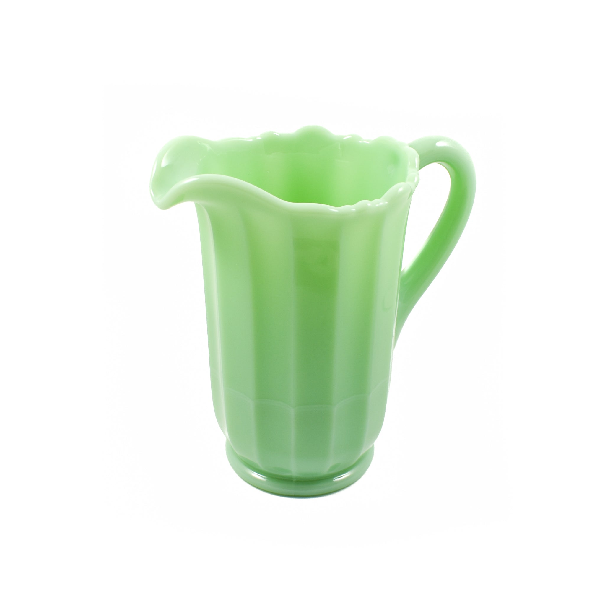 Mosser Glass Panel Pitcher in Jade