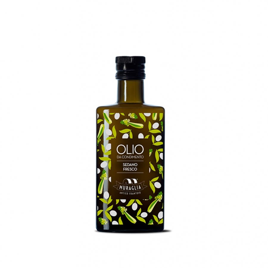 Frantoio Muraglia Aromatic Celery Extra Virgin Olive Oil 200ml Ingredients Oils & Vinegars Italian Food