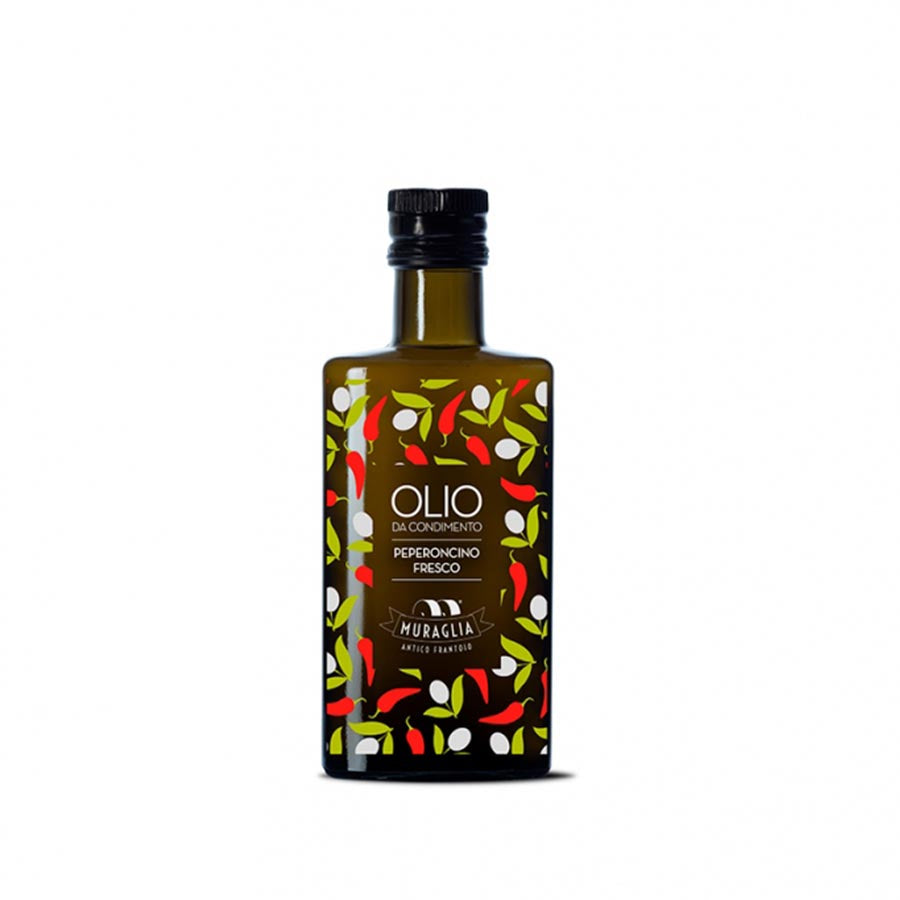 Frantoio Muraglia Aromatic Chilli Extra Virgin Olive Oil 200ml Ingredients Oils & Vinegars Italian Food