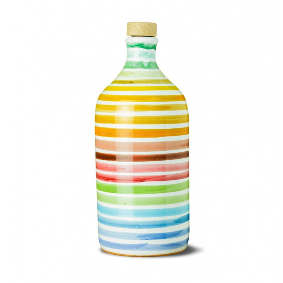Intense Fruity Extra Virgin Olive Oil in Rainbow Terracotta Bottle