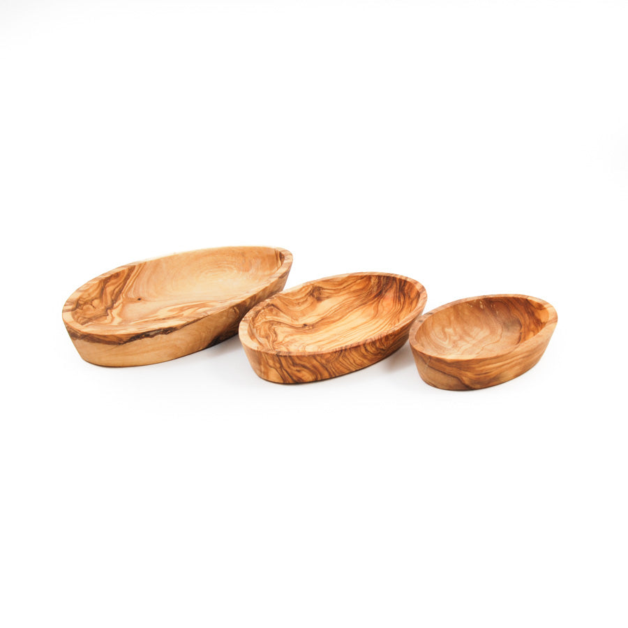 Naturally Med Olive Wood Stacking Bowl Set Tableware Wooden Boards & Chopping Boards