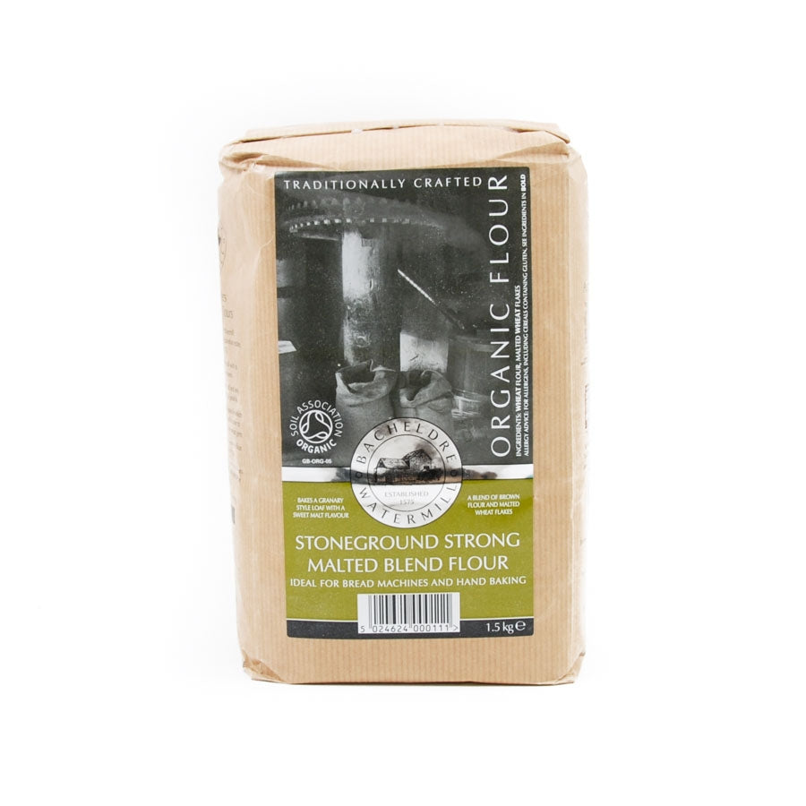 Bacheldre Organic Stoneground Strong Malted Blend Flour
