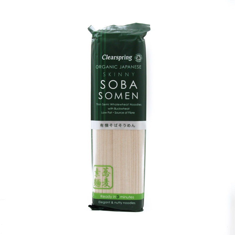 Clearspring Organic Skinny Soba Somen Noodles 200g Ingredients Pasta Rice & Noodles Noodles Japanese Food