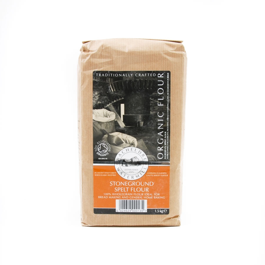 Bacheldre Watermill Bacheldre Organic Stoneground Spelt Flour 1.5kg Ingredients Flour Grains & Seeds