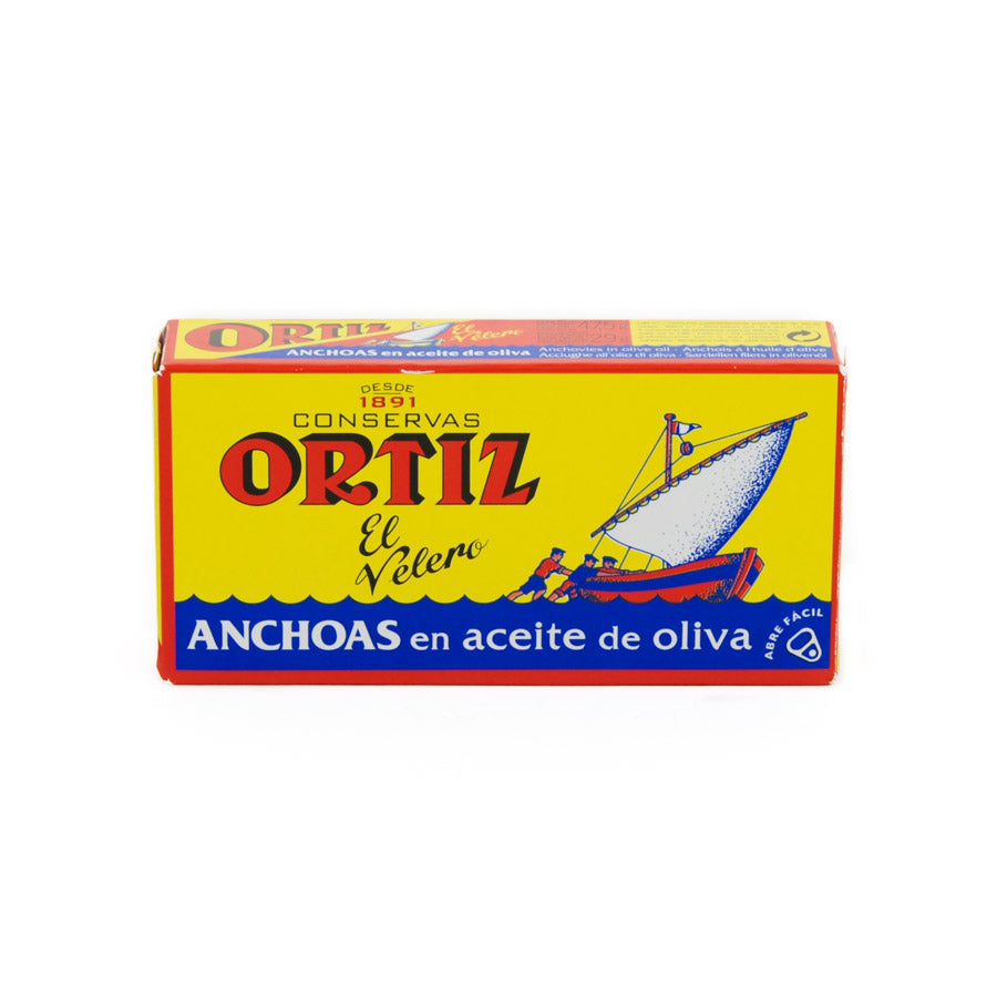 Ortiz Anchovies 47.5g Ingredients Seaweed Squid Ink Fish Spanish Food