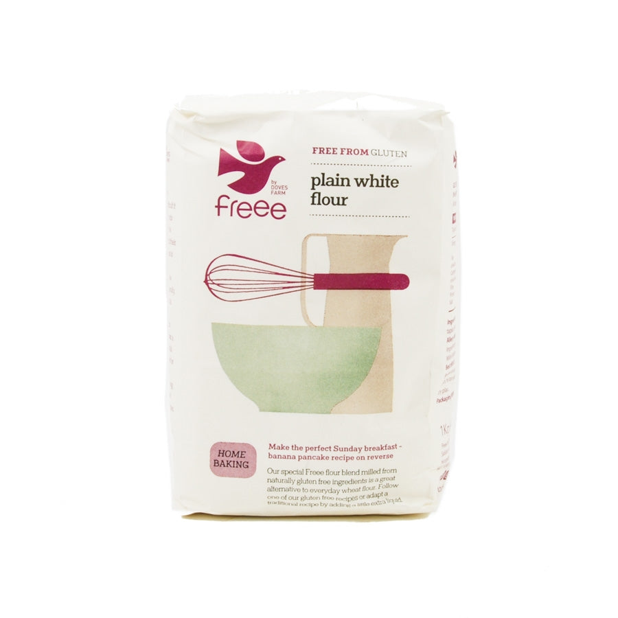 Doves Farm Gluten Free Plain White Flour 1kg Ingredients Flour Grains & Seeds