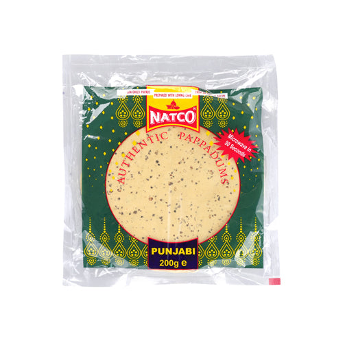 Natco Punjabi Poppadoms 200g Ingredients Savoury Snacks & Crackers Indian Food