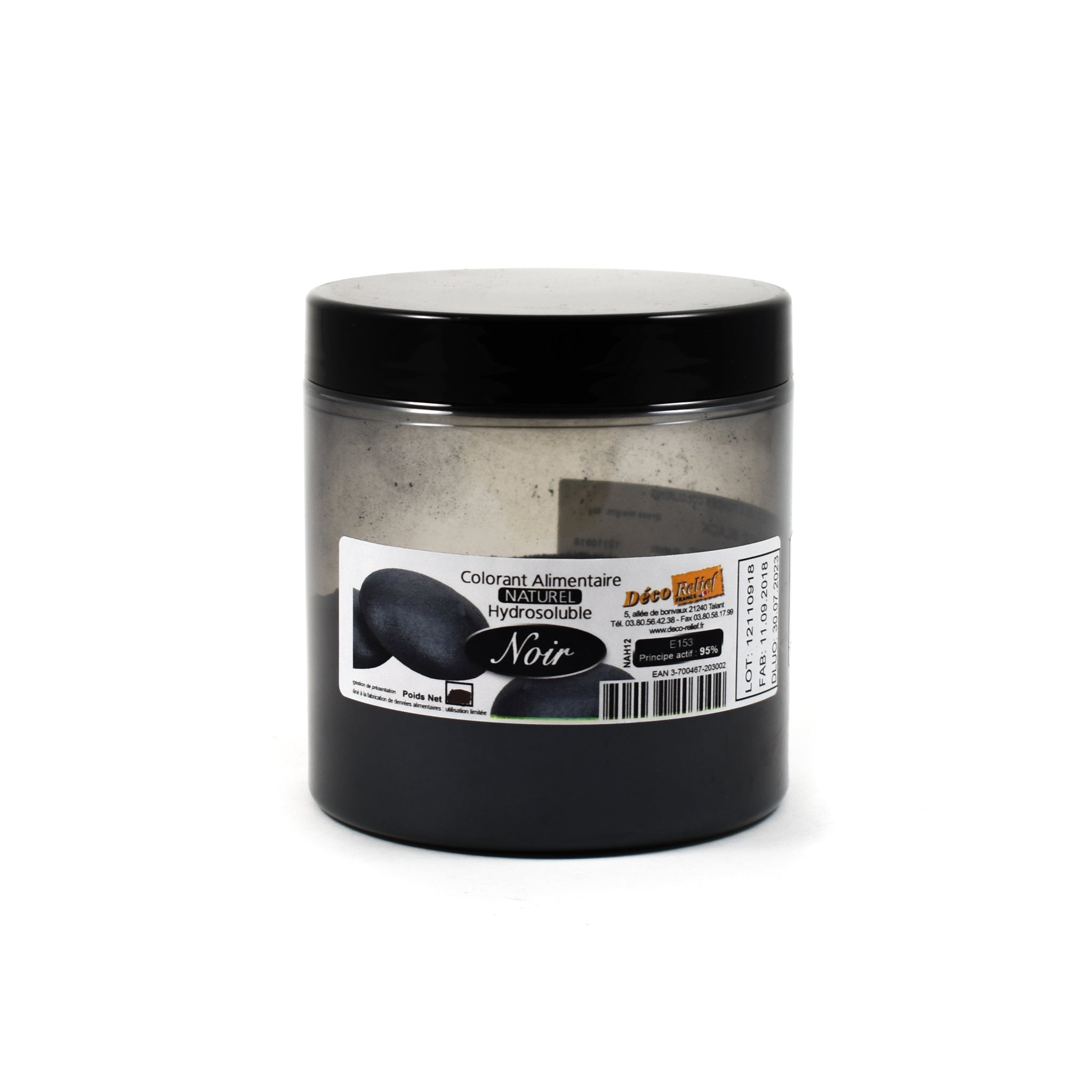 Deco Relief Professional Natural Black Food Colour - Charcoal 50g Ingredients Flavours & Colours French Food
